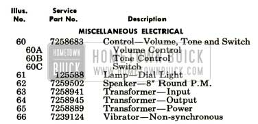 1952 Buick Electrical Parts Sonomatic Radio