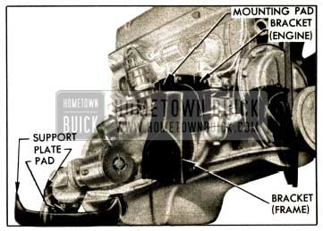1952 Buick Engine and Transmission Mountings
