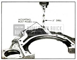 1952 Buick Enlarging Bolt Holes In Transmission Housing