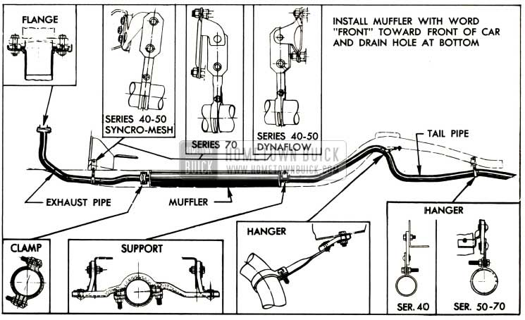 1952 Buick Exhaust System and Mountings