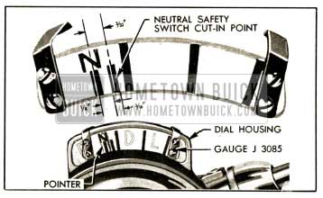 1952 Buick Gauge J 3085 Set for Timing the Neutral Safety Switch