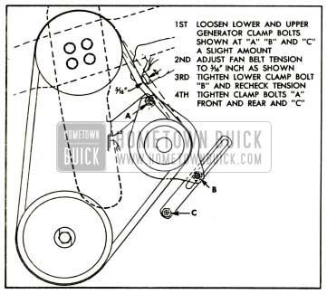 1952 Buick Generating System Fan Belt Adjustment