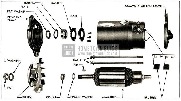 1952 Buick Generator Disassembled