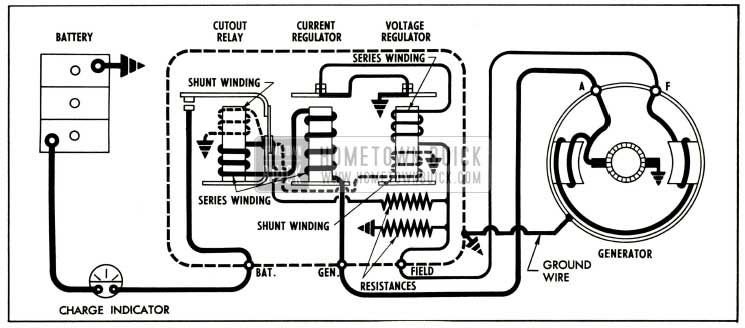 1952 Buick Generator Regulator in Generating Circuit