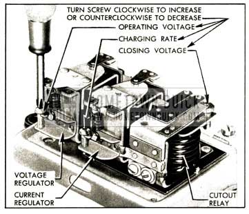 1952 Buick Generator Regulator Spring Tension Adjustments