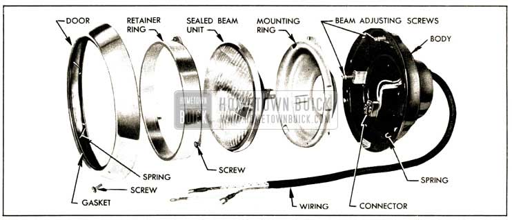 1952 Buick Headlamp Disassembled