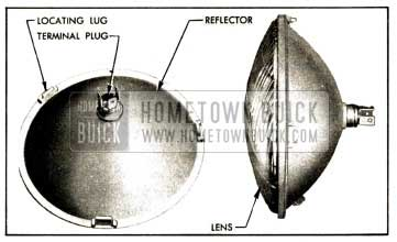1952 Buick Headlamp Sealed Beam Unit