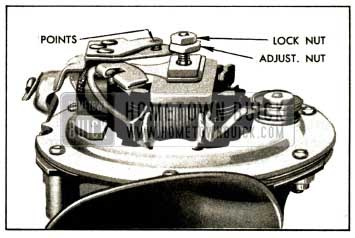 1952 Buick Horn Contact Point Adjustment