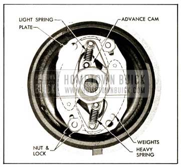 1952 Buick Installation of Advance Weights, Cam, Springs and Plate