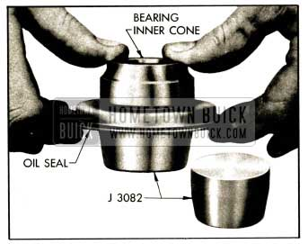 1952 Buick Installing Bearing Cone in Oil Seal with Packing Expander J 3082