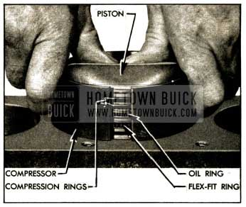 1952 Buick Installing Piston with Ring Compresser