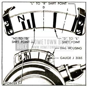 1952 Buick Linkage Adjustment Gauge J 3085 Set for Checking Shift Point