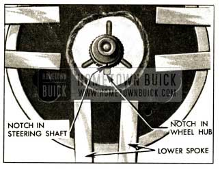 1952 Buick Location Marks on Steering Shaft and Wheel