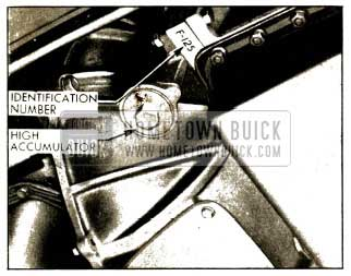 1952 Buick Location of Dynaflow Transmission Identification Number