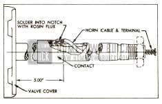 1952 Buick Location of Horn Cable Contact