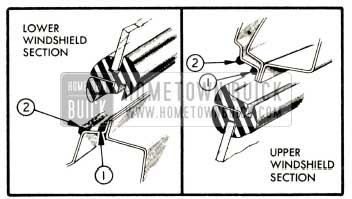 1952 Buick Location of Windshield Sealing Compounds
