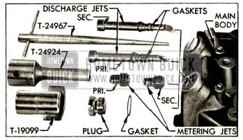 1952 Buick Main Metering and Discharge Jets and Tools