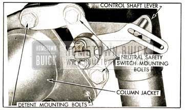 1952 Buick Neutral Safety Switch Mounting