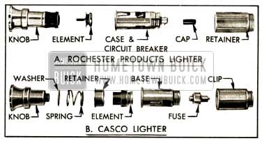 1952 Buick Optional Types of Cigar Lighter
