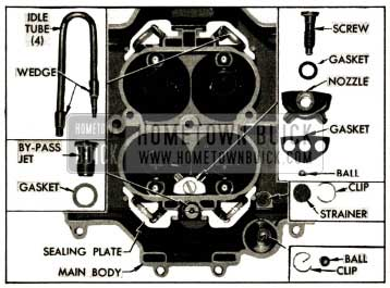 1952 Buick Parts In 4-Barrel Stromberg Carburetor Main Body