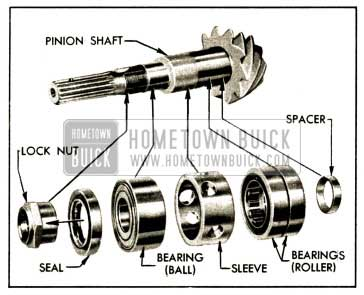 1952 Buick Pinion Shaft and Related Parts