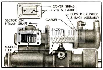 1952 Buick Position of Rack and Sector for Installation of Power Cylinder