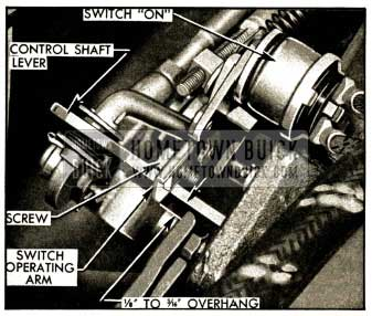 1952 Buick Position of Switch Operating Arm In Reverse