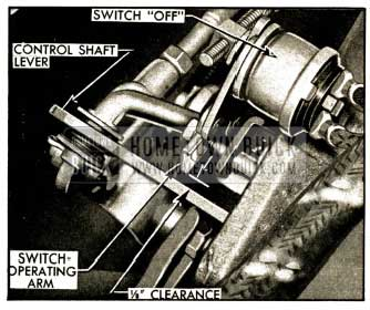 1952 Buick Position of Switch Operating Arm In Second Speed