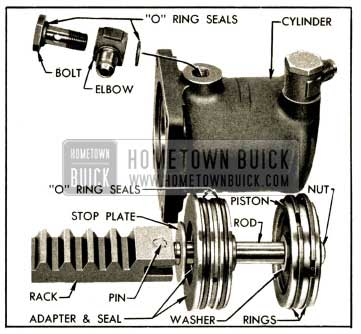 1952 Buick Power Cylinder and Rack Parts