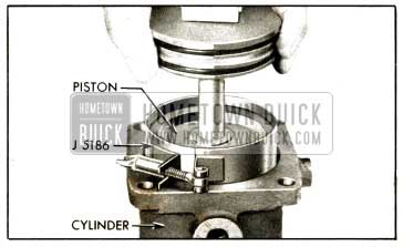 1952 Buick Power Steering Installing Piston With Ring Compresser