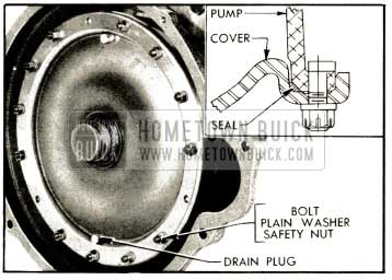 1952 Buick Primary Pump Cover and Seal