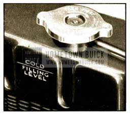 1952 Buick Radiator Filling Level-Cold