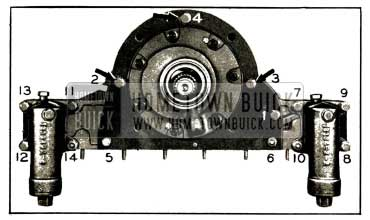 1952 Buick Reaction Shaft Flange and Accumulator Bolt Tightening Sequence