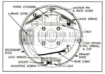 1952 Buick Rear Brake Assembly-Right