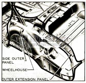 1952 Buick Rear Quarter Side Outer Panel Assembly Series 40