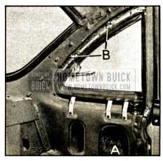 1952 Buick Rear Quarter Ventilator Inside Area