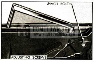 1952 Buick Rear Quarter Window Adjustments