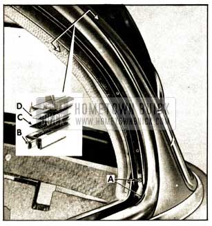 1952 Buick Rear Quarter Window Seal- Channel and Reveal Molding