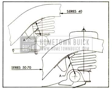 1952 Buick Rear Spring Trim Dimension
