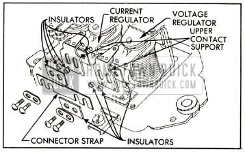 1952 Buick Relationship of Connector Strap, Insulaton and Upper Contact Supports