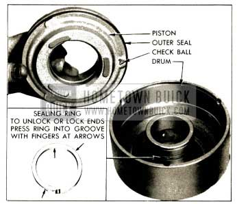 1952 Buick Removal of Clutch Piston and Oil Sealing Ring