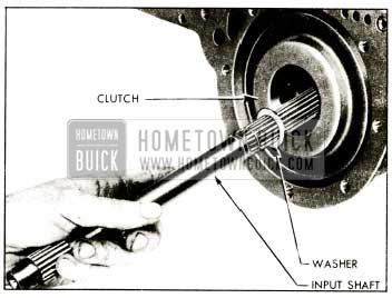 1952 Buick Removal of Input Shaft and Clutch Hub Thrust Washer