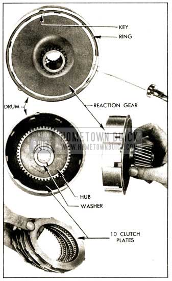 1952 Buick Removal of Reaction Gear, Hub, and Plates