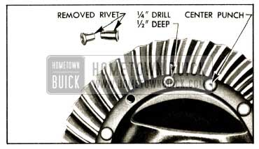 1952 Buick Removal of Ring Gear Rivets