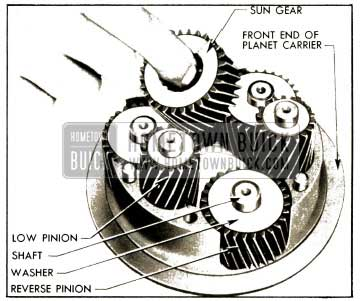 1952 Buick Removal of Sun Gear and Planet Pinions