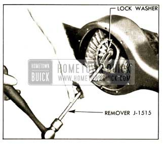 1952 Buick Removing Axle Shaft lock Washer
