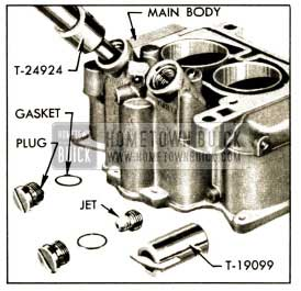 1952 Buick Removing Plug and Main Metering Jet