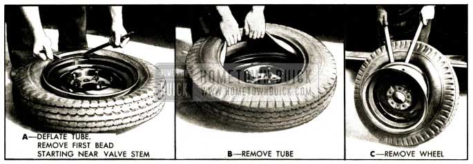 1952 Buick Removing Tire and Tube
