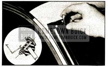 1952 Buick Reveal Molding Corner Escutcheon