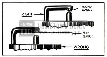1952 Buick Right and Wrong Spark Plug Gauges